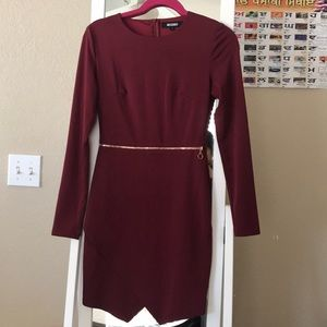 Missguided wine red cocktail dress